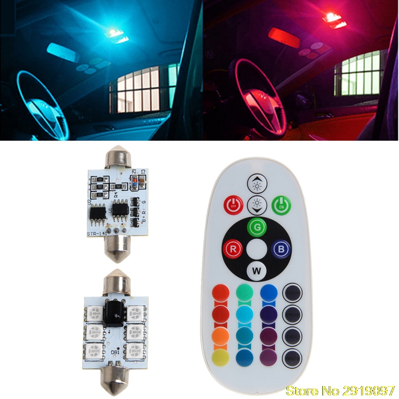 new-fontb1-b-font-pair-42mm-dc-12v-5050-6-led-rgb-led-map-dome-car-interior-light-remote-control-dro