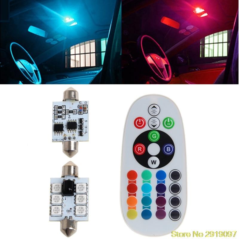 new-fontb1-b-font-pair-42mm-dc-12v-5050-6-led-rgb-led-map-dome-car-interior-light-remote-control-dro