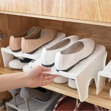 купить Household Shoes Organizer Cabinet Double Layer Space-Saving Plastic Storage Rack Home Storage Stand Shelf for Living Room дешево