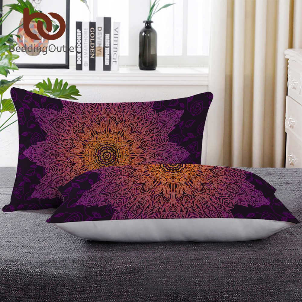 Power Source Garden Supplies Beddingoutlet Floral Boho Wolf Sleeping Pillow Cool Wildlife Down Alternative Body Pillow Rainbow Flower Blossoms Bedding 1pc