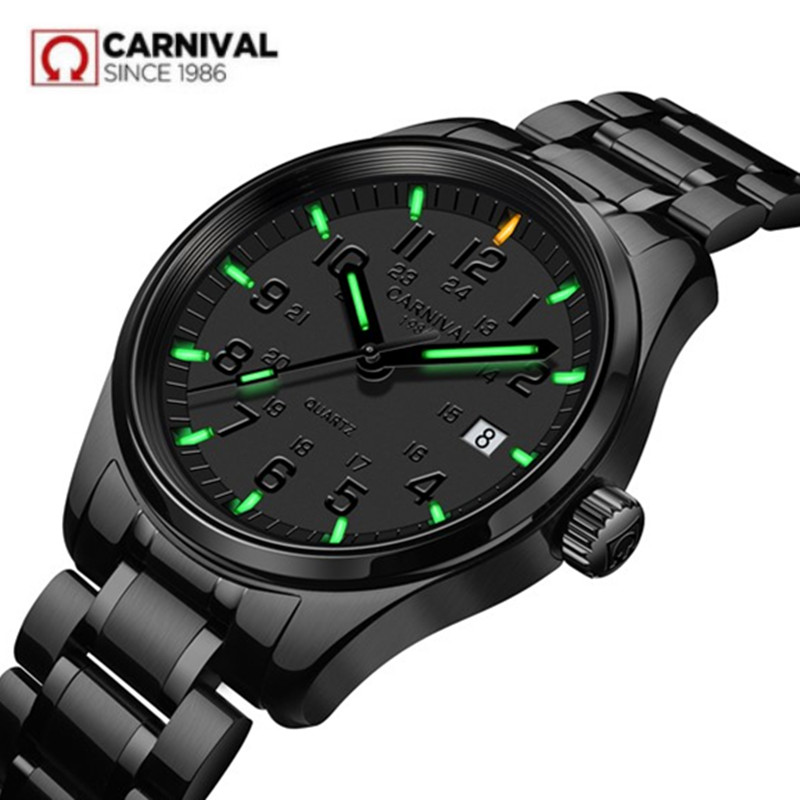 Tritium luminous T25 army waterproof 200M sports quartz mens watch full steel leather luxury famous brand