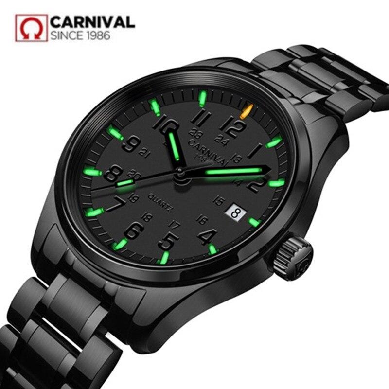 Tritium luminous T25 กันน้ำ 200 M กีฬา quartz mens นาฬิกาหนังเต็มรูปแบบหนังหรูหราที่มีชื่อเสียงแบรนด์แฟชั่น casual นาฬิกา-ใน นาฬิกาควอตซ์ จาก นาฬิกาข้อมือ บน   1