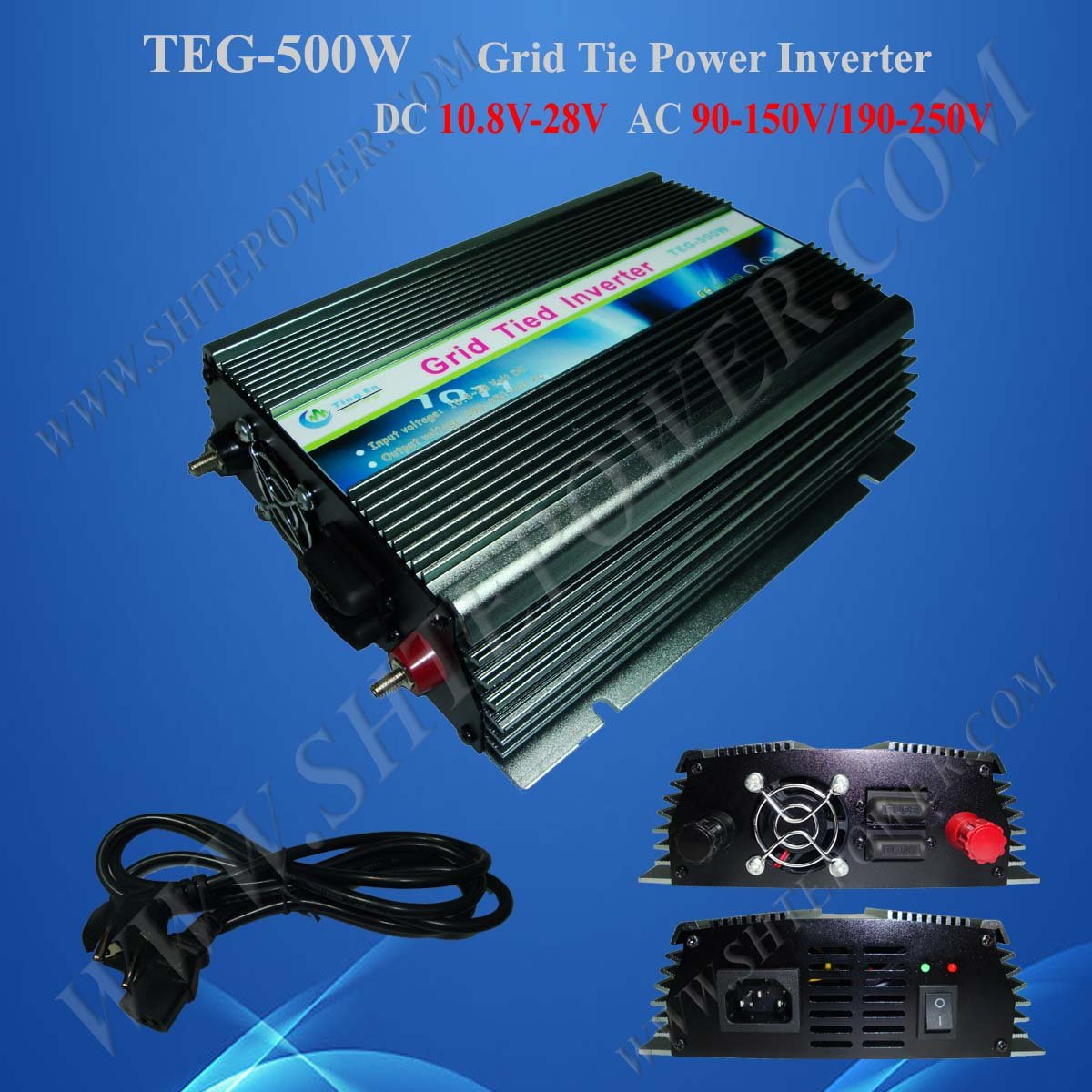 цена на 500W Power Inverter for Solar Panel On Grid System, DC 10.8V-30V to AC 190V-250V, One Year Warranty, High Quality