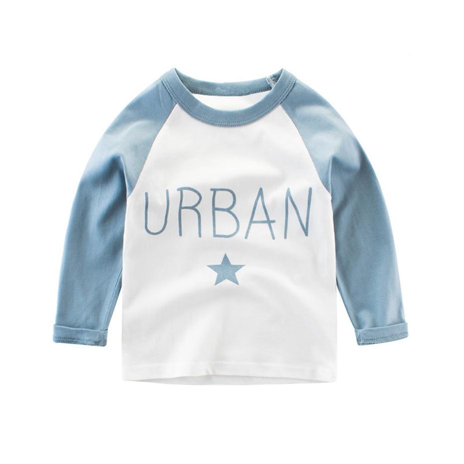Baby Blue Shirt Roblox Boy T Shirt Long Sleeve Cotton Casual Alphabet Pattern Children