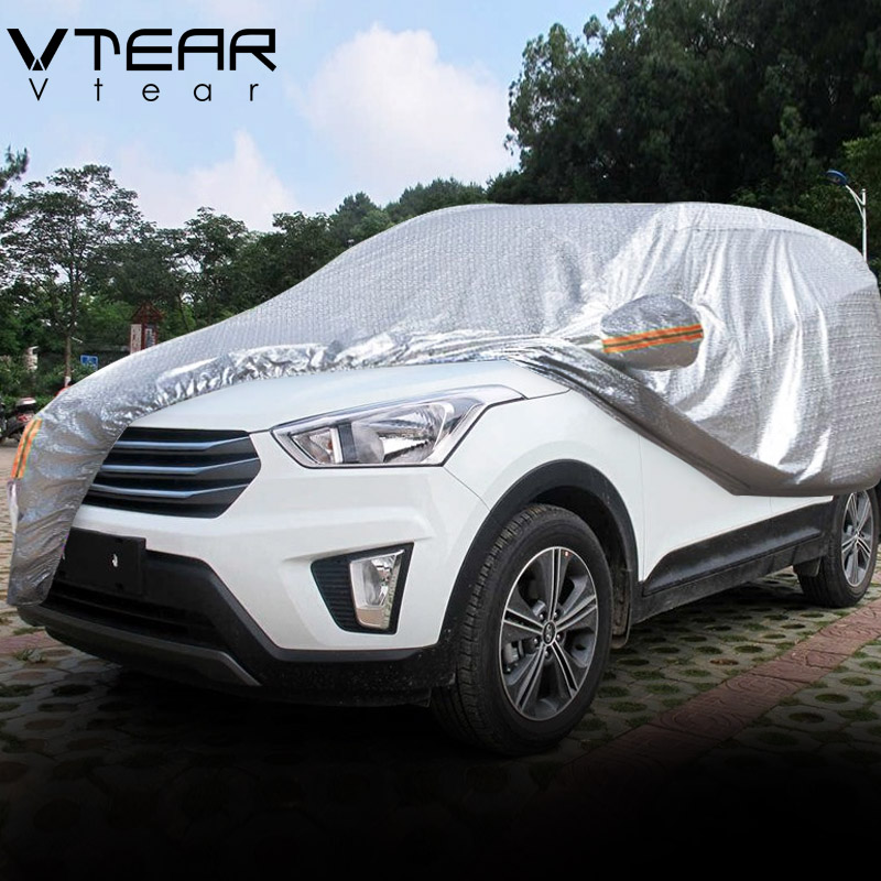 Vtear For Hyundai Creta Ix25 Car Covers Dustproof Protection Thicken Aluminum Film Outdoor Full Car Cover Accessories 2017-2019(China)