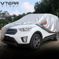 Vtear For Hyundai creta ix25 Car Covers Dustproof Protection Thicken Aluminum film Outdoor Full Car Cover Accessories 2017 2019