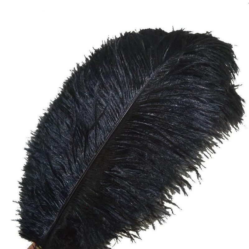 Wholasale Elegante Nero Piume di Struzzo per Artigianato 15-70 centimetri 6-28 pollici di Nozze Rifornimenti Del Partito di Carnevale Ballerino decorazione di Piume