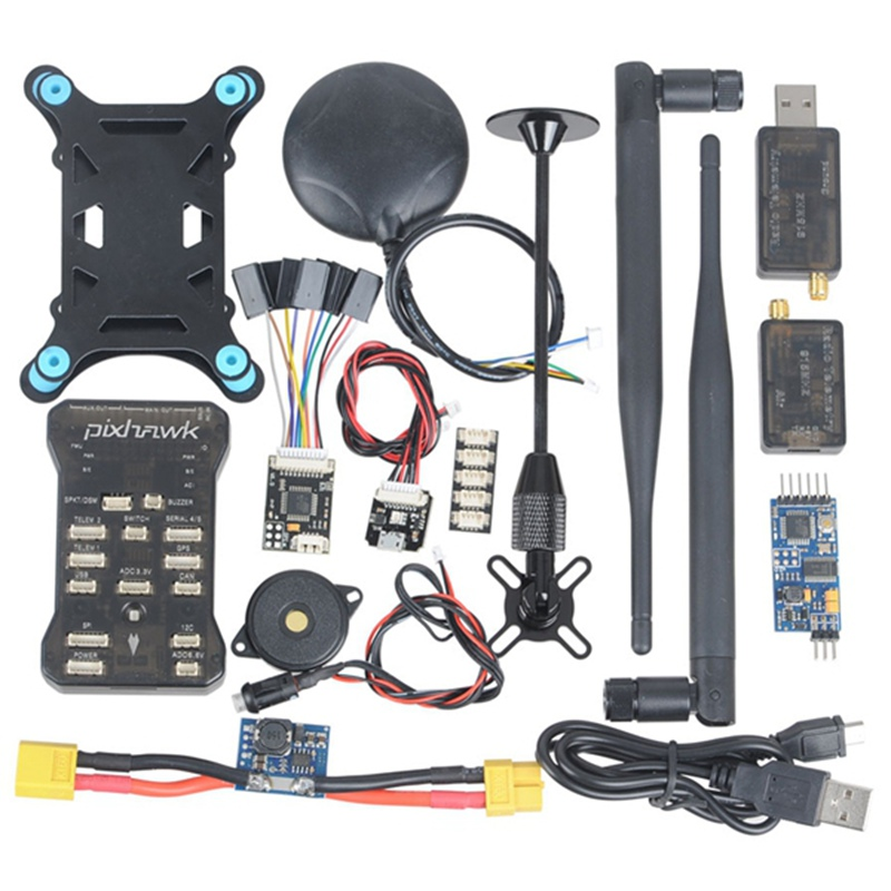 Pixhawk PX4 2.4.6 Flight Controller NEO-M8N GPS Radio Telemetry OSD 3DR 915Mhz apm2 8 flight controller m8n gps 3dr telemetry power module micro osd damper board for fpv multicopter