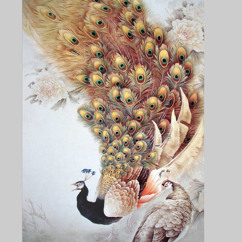 Cuadros Home Decor Peacock Photos Canvas Painting wall pictures for living room picture paintings modern wall art No Frames