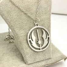 Free shipping movie jewelry Star Wars Jedi Order Necklace,Silver Plated Pendant necklace