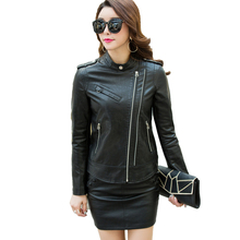Women Faux Soft Leather Jackets 2017 New Autumn Winter Ladies Pu Leather Black Basic Zippers Coat Motorcycle Female Outerwear