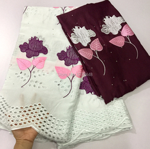 High Quality Swiss Voile Lace 2018 African wholesale Fabric Africa Swiss White Cotton Voile Lace Fabric For Clothes With Stones