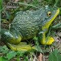 Милая декоративная статуя лягушки из смолы DIY  садовый бонсай  украшение магазина  скульптура животного для стола  садовый декор  украшение