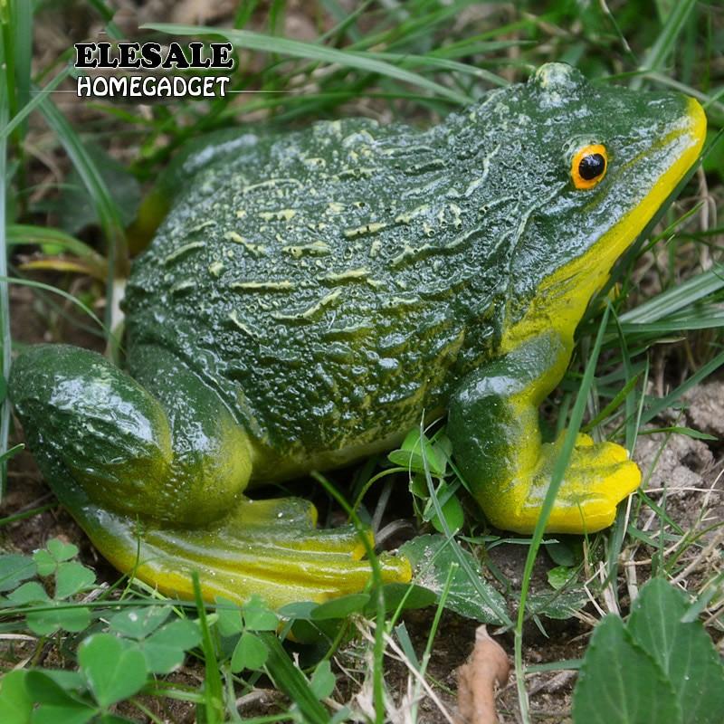 Cute Resin Decorative Frog Statue DIY Outdoor Garden Bonsai Store Decoration Animal Sculpture For Desk Garden Decor Ornament