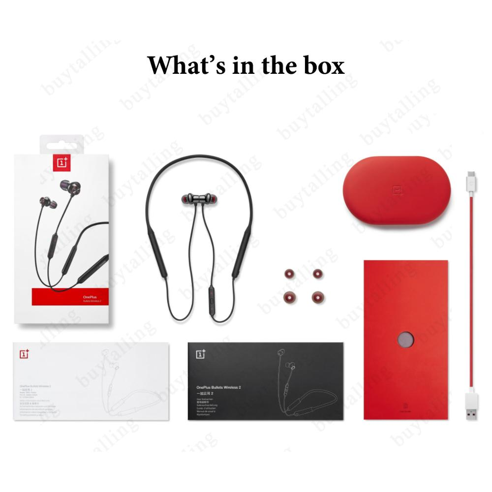Image 5 - Official Oneplus Bullets Wireless 2 Bluetooth Earphone OnePlus  Bullets 2 For Oneplus 7 Pro Interface Warp flash Charge  functionEarphones
