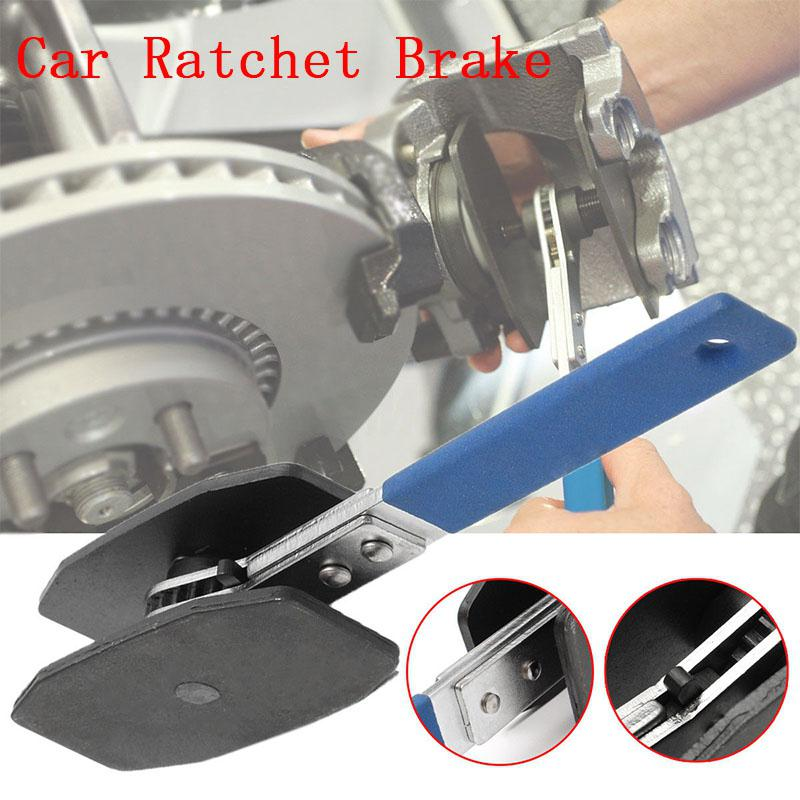 1Pc Car Ratchet Brake Piston Caliper Spreader Tool Stainless Steel Brake Caliper Press Twin Quad Separator Pad