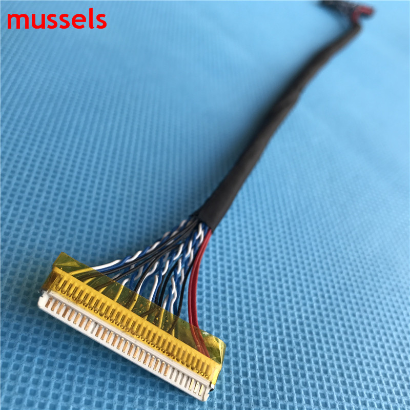 For LCD Controller Panel Double 8 bits Interface Wire FIX D8 30pin LVDS Cable Free Shipping 1 pieces in Industrial Computer Accessories from Computer Office