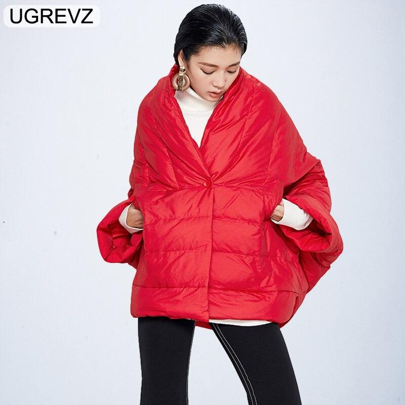 Winter Jacket Women Coat 2018 New Irregularity Loose Parka Fashion Cloak Warm Female Cotton Overcoat Black White Short Jacket XL