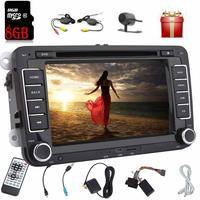 Double din 2 din automagnitol car radio stereo for VW car audio in dash DVD player autoradio gps map card+wireless rear camera