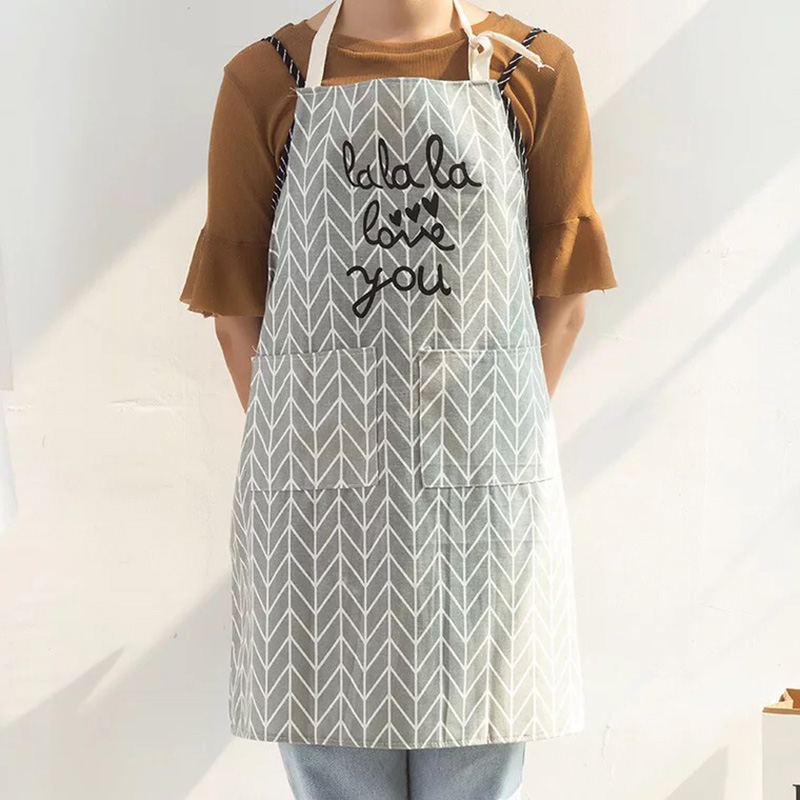 Cotton Kitchen Unisex Cooking Aprons Dining Room Barbecue Restaurant Apron x 1