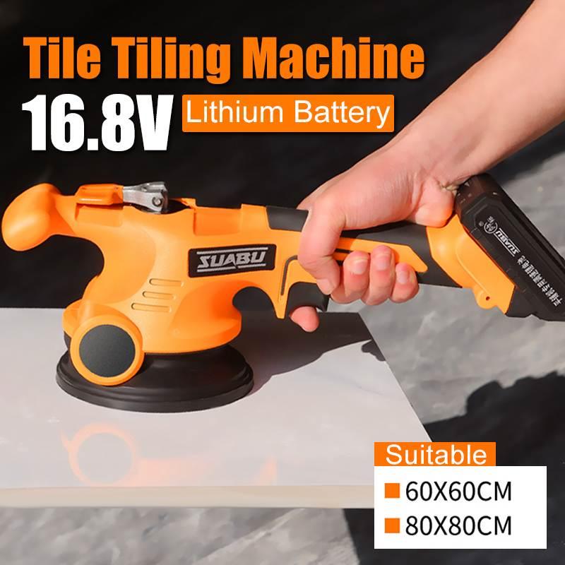 16.8V Portable Tile Vibrator Floor Plaster Tile Laying Machine Floor Plaster Lithium Battery Automatic Floor Vibrator Leveling