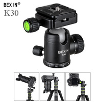 BEXIN Mini panoramic Ball Head Tripod Stand Adapter with Quick Release Plate for Canon Nikon Sony Digital SLR Camera video tripo