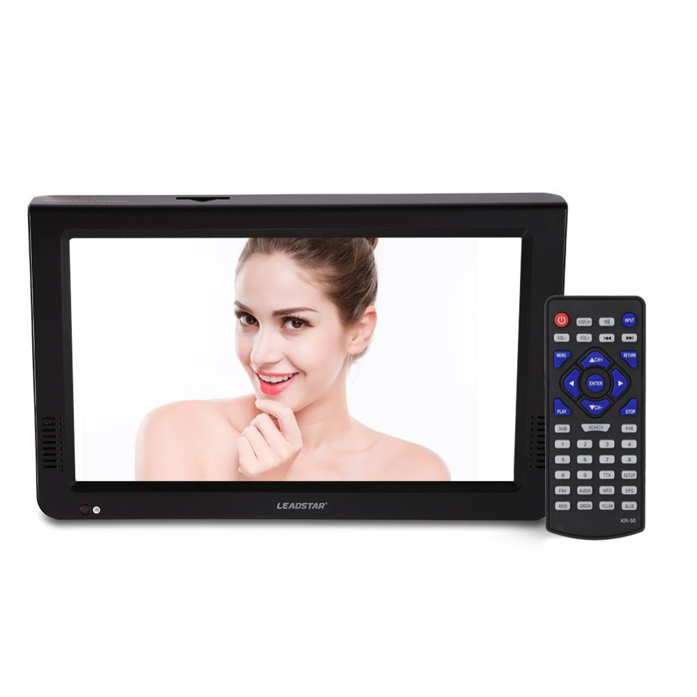 LEADSTAR 10 Inch Portable Digital HD TV with Analog Television Receiver Antenna DVB T2 TV support
