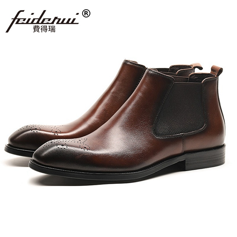 New Summer Designer Man Handmade Breathable Chelsea Shoes Male Genuine Leather Men's Round Toe Cowboy Riding Ankle Boots SS347 new summer designer man handmade breathable chelsea shoes male genuine leather men s round toe cowboy riding ankle boots ss347