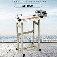 Saco de alumínio máquina seladora saco de plástico máquina de selagem de impulso pedal selo SF1000 1000mm film sealer 1400 w 3mm aferidor de calor Conj. ferramentas elétricas     -