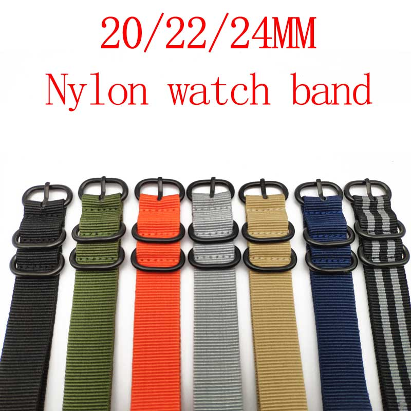 Nato Nylon Watch band ZULU Heavy 20mm 22mm 24mm Watchbands Men Women Watches Strap Canvas Wristwatch Band Buckle Belts цена