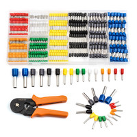 800Pcs Bootlace Cooper Ferrules Kit Wire Copper Crimp Connector Insulated Cord Ferrules Pin End Terminals Set for 22 10AWG