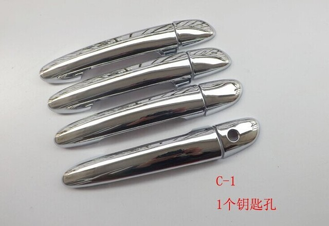 1 key hole Door handle covers Fit For MAZDA 3 AXELA 2014 Chrome 8pcs per set auto accessories