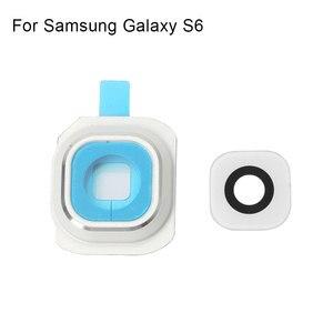 Image 3 - 1 เซ็ตด้านหลังเลนส์กล้องเลนส์ฝาครอบกรอบสำหรับ Samsung Galaxy S6 เปลี่ยนชิ้นส่วน