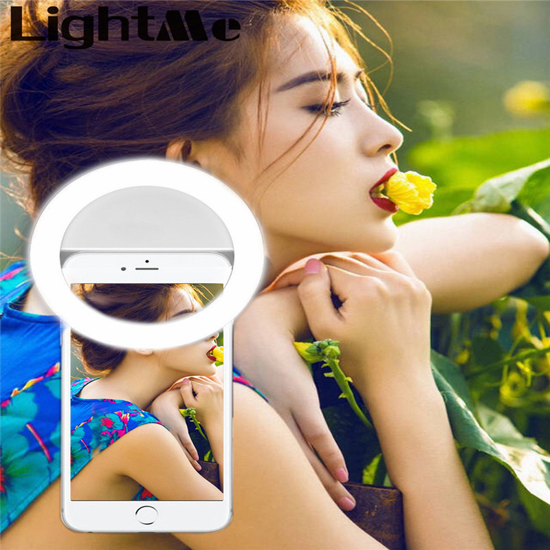 Selfie Protable Flash Phone Photographic Lighting Photography Ring Light for Smartphone iPhone Samsung White Black Led