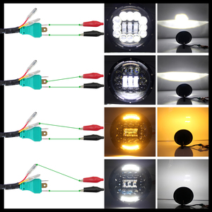 Image 4 - שיתוף אור 7 אינץ LED פנס 180W זווית העין DRL הפעל Singal 12V 24V Hi/Lo עבור ג יפ רנגלר לאדה ניבה 4x4 Offroad נהיגה אורות