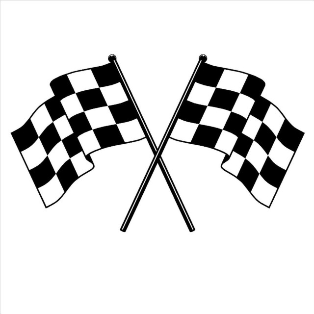 checker flag vinyl wall decal checkered flag formula one finishing line wall sticker living room. Black Bedroom Furniture Sets. Home Design Ideas