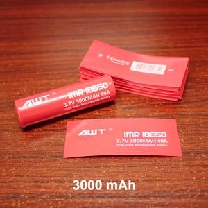 Image 3 - 100 יח\חבילה PVC תרמית מתכווץ מעטפת עבור סוללה נדן אריזה 18650 חום צינור מתכווץ בידוד סרט
