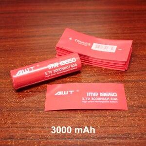 Image 3 - 100 pz/lotto PVC Involucro Termoretraibile per la Batteria Guaina di Imballaggio Termico 18650 di Calore Termoretraibile Tubo di Isolamento Pellicola
