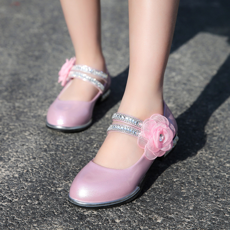 fabc6f5427e SLYXSH 2017 Spring Kids Girls High Heels For Party Sequined Cloth Blue Pink  Shoes Ankle Strap Beaded hildren Girls Pumps Shoes-in Leather Shoes from  Mother ...