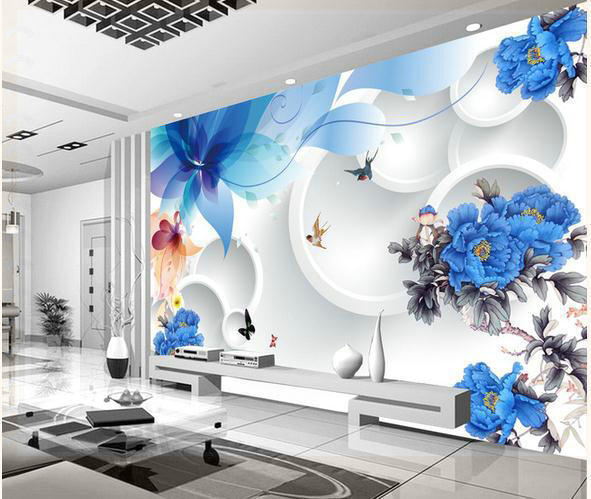 Elegant Wallpaper For Wall: Wallpaper Murals Fashion Flowers Fresh And Elegant