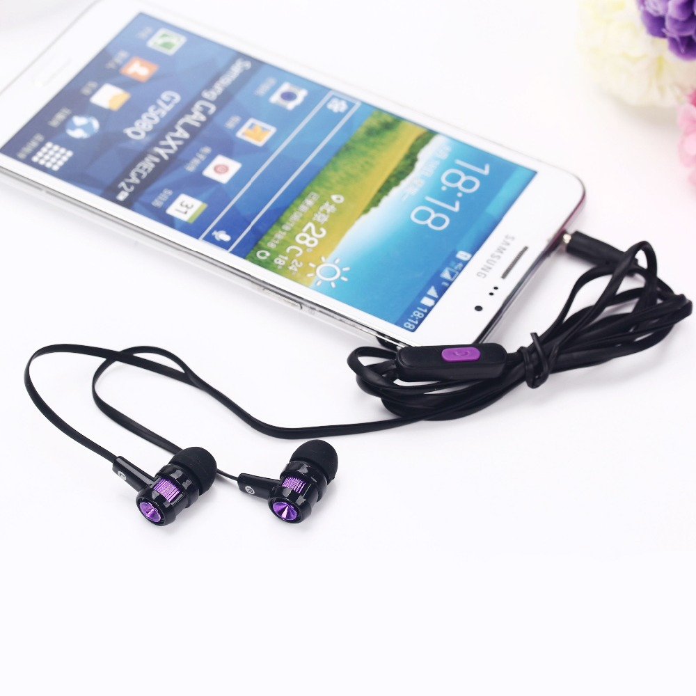 New Fashion In-ear Earphone Flat Cable with Volume&Mic Headset Earbuds for Music Phone Sumsang Xiaomi MP4 MP3 fone de ouvido