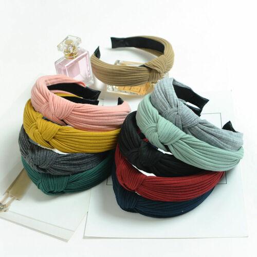 Drop Shipping Women Fashion Headband Twist Hairband Bow Knot Cross Tie Headwrap Hair Band Hoop GIFT 2019 Hotsale