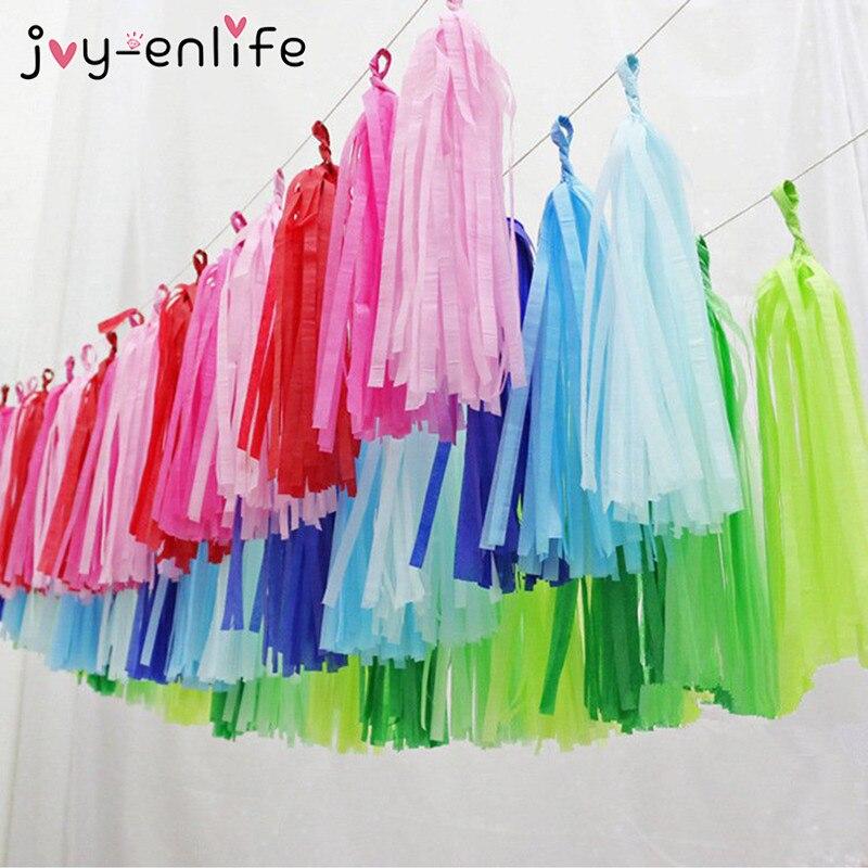 JOY ENLIFE 5pcs Tissue Paper Tassels Garland DIY Paper Flower Decor Wedding Decor font b Baby