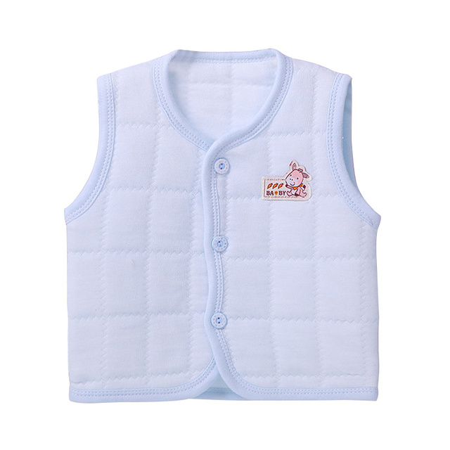 4acb03690 Solid Baby Vest Cotton V Neck Pink Vest For Girls Spring And Autumn ...