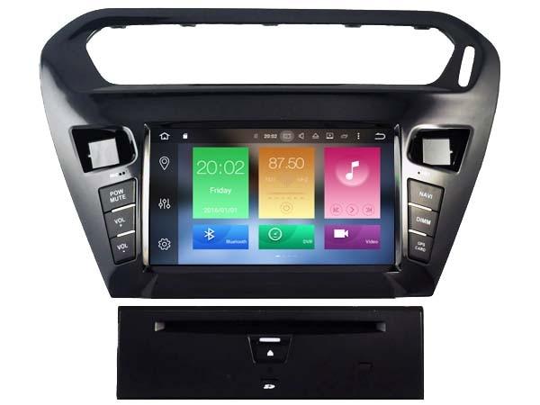 Lecteur DVD Audio de voiture Android 8.0 pour PEUGEOT 301 2012/citroën ELYSEE gps récepteur d'unité de dispositif de tête multimédia BT WIFI