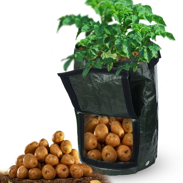 Potato Planting Bags Outdoor Cultivation Vertical Garden Pot Hanging Open Style Vegetable Planter Grow Bag Home Supplies