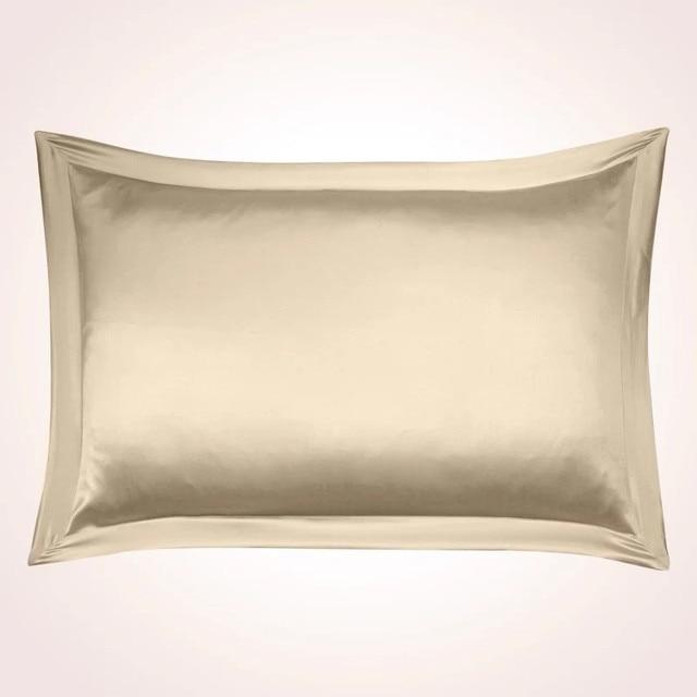 100% mûrier soie 16mm double soie taies d'oreiller blanc champagne