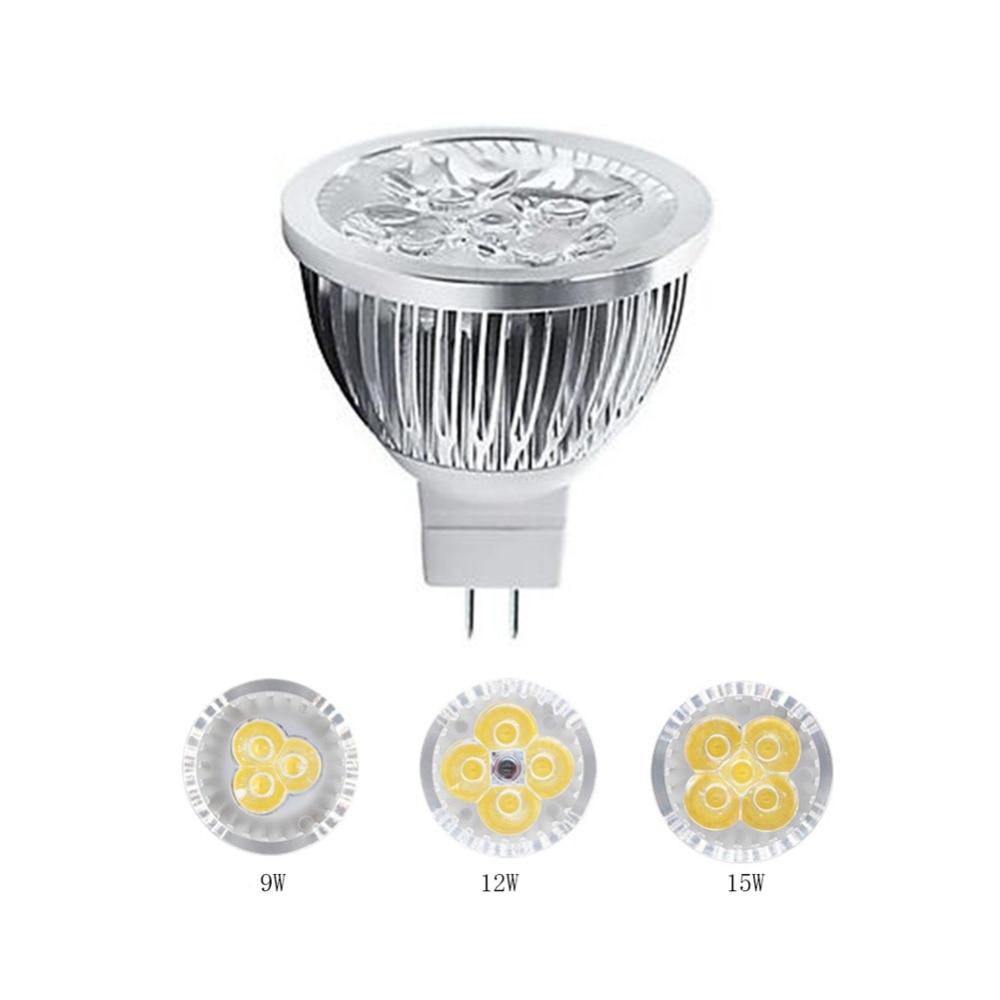 Светодиодный светильник MR16 12 В, Точечный светильник 9 Вт 12 Вт 15 Вт Теплый/натуральный/холодный белый, сверхмощный светодиодный светильник
