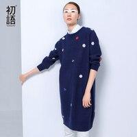Toyouth 2016 New Arrival Women Autumn Dresses Fashion Polka Dot O Neck Long Sleeve Dresses Female