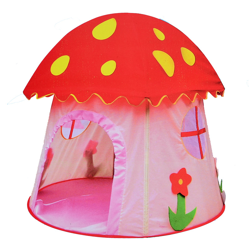 BOHS Princess Mushroom Playhouse Children Tipi Tent Game Room Baby Outdoor Toys Indoor House mushroom kids play hut pink blue children toy tent baby adventure game room indoor outdoor playhouse